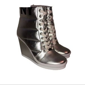 DKNY Women's Wedge Heel Sneakers.